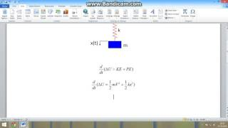 Mühendislik - Mekanik Titreşim Dersi - Kütle Yay Modeli Hareket Denklemi ve Doğal Frekansı
