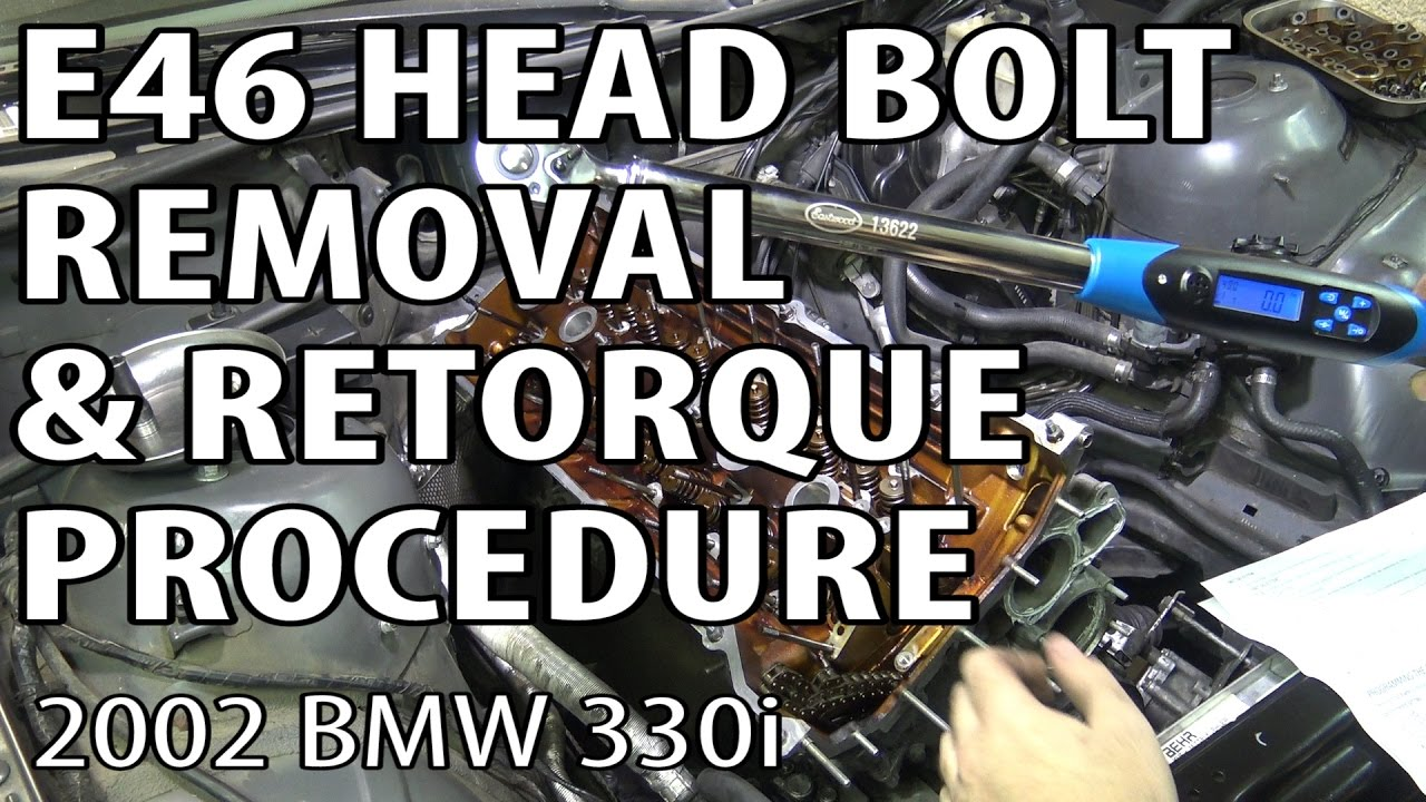 BMW E46 Torque Head Bolts & Remove Cylinder Head #m54rebuild 11
