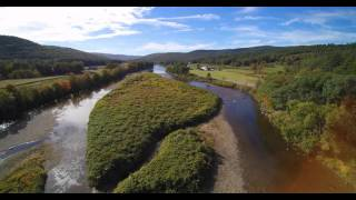 Q500 4K flight Over The Deerfield River Fork In 4K