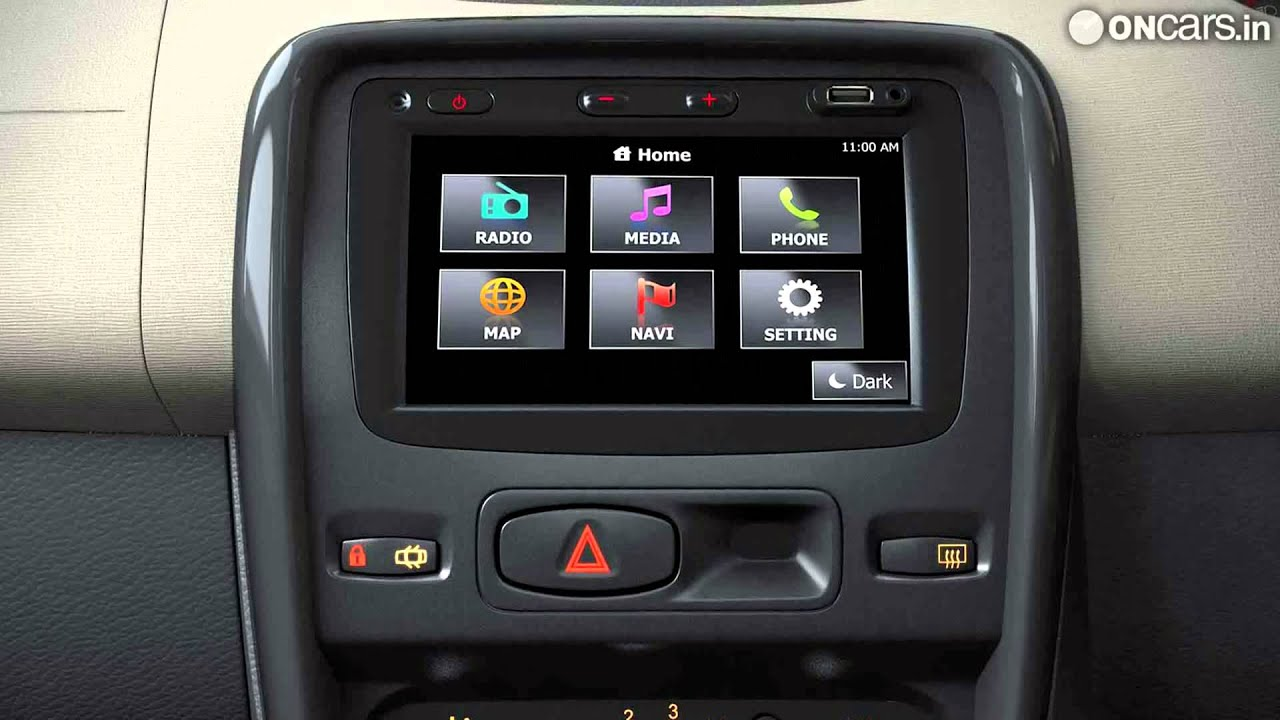 renault duster suv gets a new 39 media nav 39 system youtube. Black Bedroom Furniture Sets. Home Design Ideas