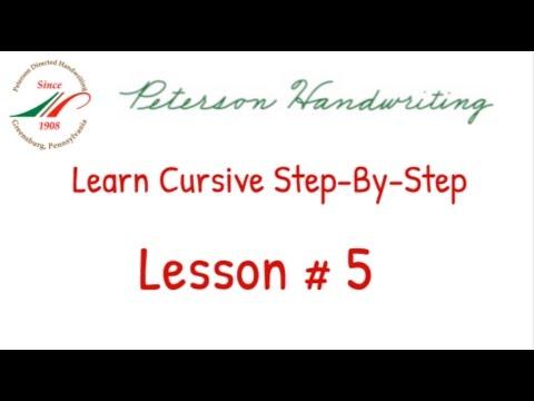 Learn Cursive Stepbystep Lesson # 5  Youtube