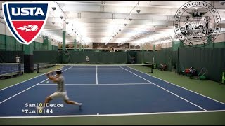 Tennis with YouTuber Sam Page: California vs Texas USTA NTRP 4.5 Highlights HD 1080p
