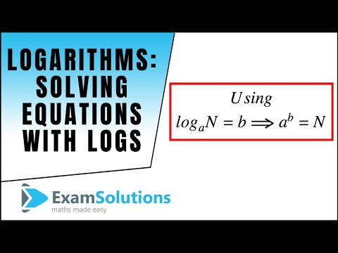 Logarithms : Solving equations containing logs : ExamSolutions