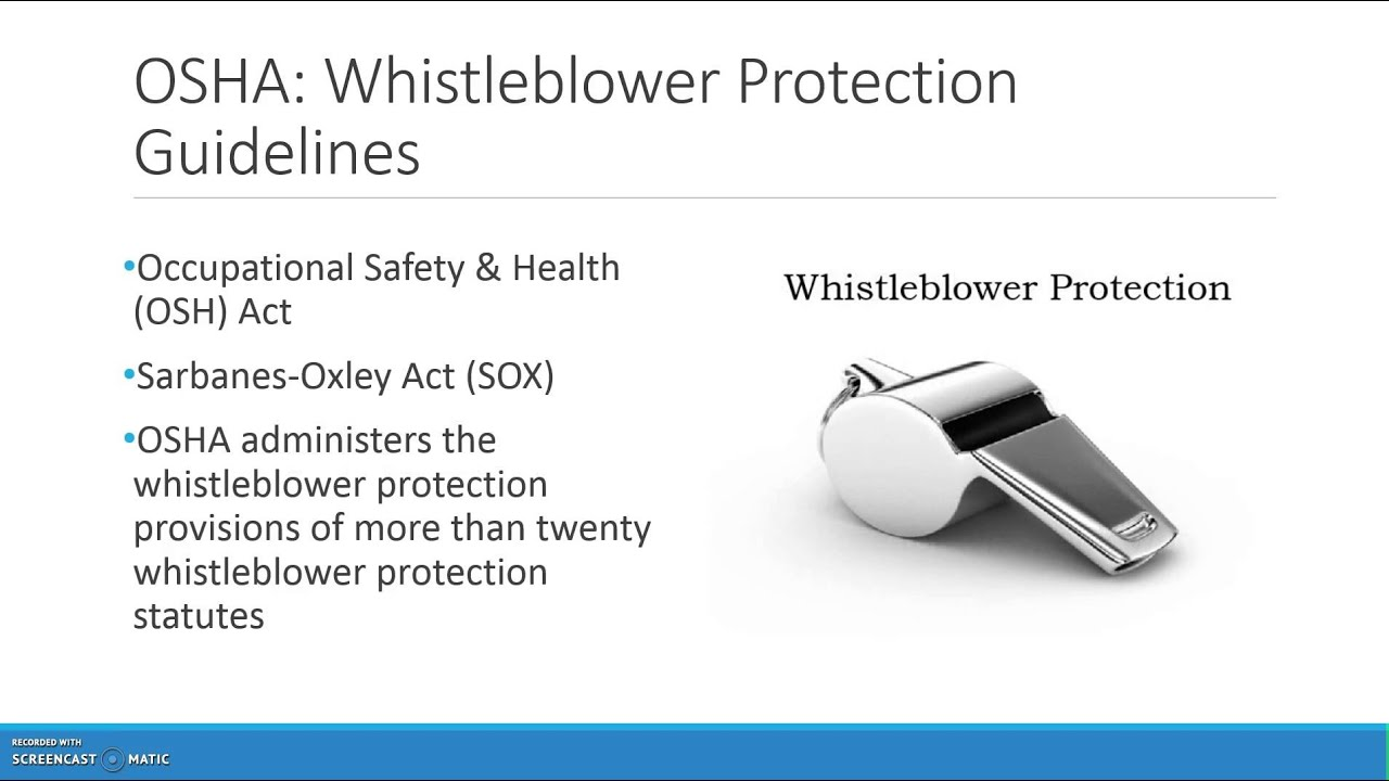 whistle blowing • information about blowing the whistle to the relevant prescribed person(s) 6 whistleblowing: guidance for employers promoting a policy and making.