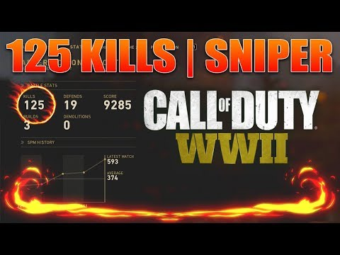 WORLD RECORD 125 KILLS IN A GAME (CALL OF DUTY WW2)