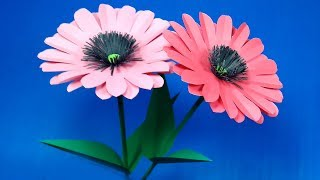 Very Nice & Colorful Paper Stick Flower for Room Decoration | DIY Flower | Abigail Paper Craft