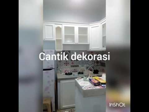 Pemasangan kitchen set finishing duco classic