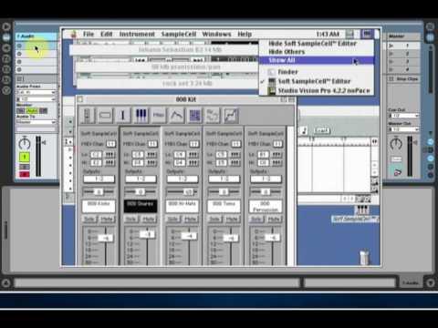 Soft Samplecell - Demo Mac OS9. Mac上的演示.