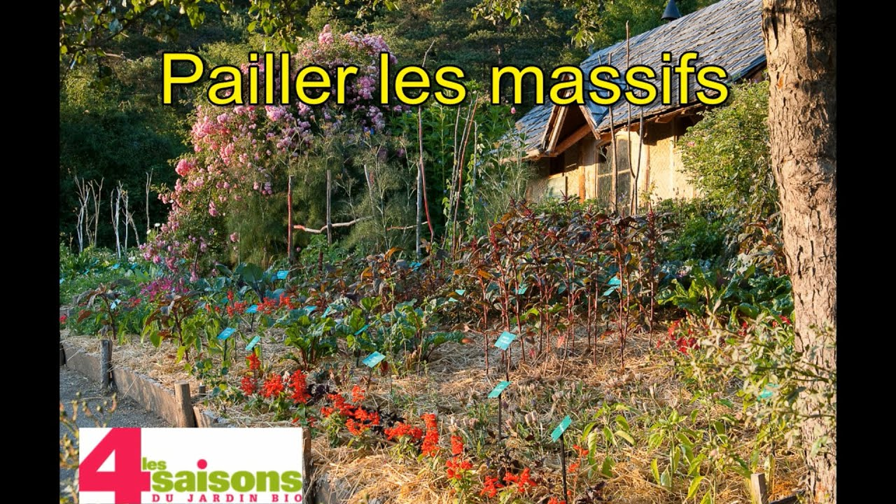 les 4 saisons du jardin bio pailler les massifs de vivaces youtube. Black Bedroom Furniture Sets. Home Design Ideas