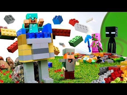 Видео обзор - Крутые доспехи для Стива из Майнкрафт Лего!