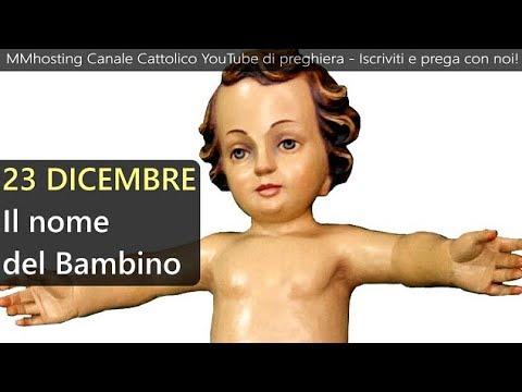 Risultati immagini per 23 Dicembre: Il nome del Bambino - Mese dedicato al Santo Natale