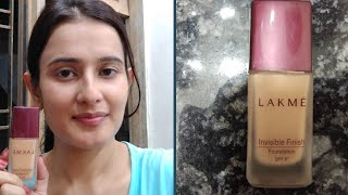 LAKME Invisible Finish Foundation Spf 8 Shade 01 Honest Review amp Demo SWATI BHAMBRA