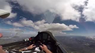 Glider Flying Cloud Street Over Utah Mountains