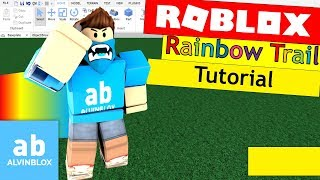 Roblox Rainbow Trail Tutorial - How To Make A Trail On Roblox