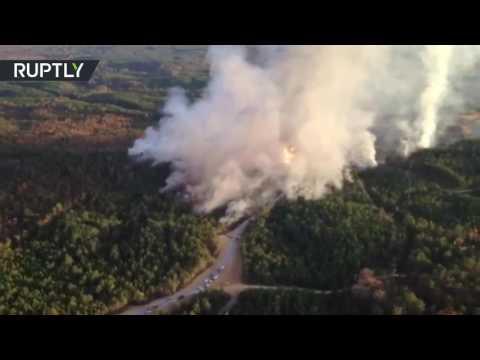 Aerial footage: Alabama gas line explosion