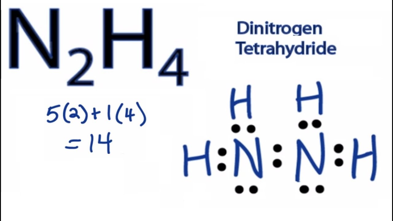 small resolution of n2h4 lewis structure how to draw the dot structure for n2h4 chemical bonding