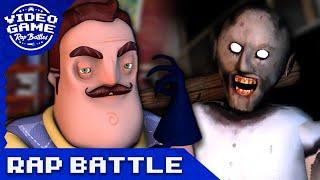 Granny vs. Hello Neighbor - Video Game Rap Battle (SFM)