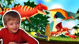 Гонки на Машинках с Динозаврами Игра про Динозавров для Детей Lion boy
