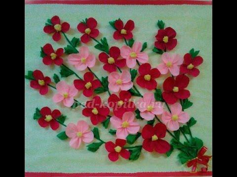 Букет цветов ко дню матери.Поделка ко дню матери. Мастер-класс с пошаговыми фото.