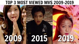 [TOP 3] MOST VIEWED KPOP MUSIC VIDEOS EVERY YEAR | 2009-2019