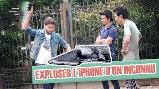 Pranque : exploser l'Iphone d'un inconnu par terre ! (avec Greg Guillotin)