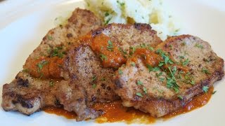 Pork Chops W/spicy Tomato Sauce
