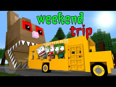 Monster School : WEEKEND TRIP - Minecraft Animation