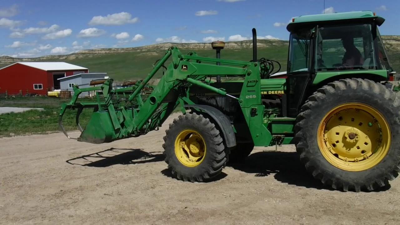 1991 Jd 3155 Tractor W   Jd 265 Loader