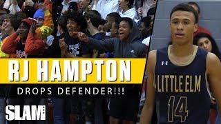 RJ Hampton Makes Defender TOUCH EARTH!!! 🌎 | SLAM Highlights