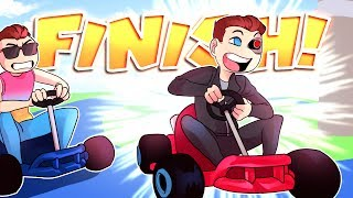 Mario Kart 8 Deluxe Funny Moments: The Greatest Finish Line Steal Ever!
