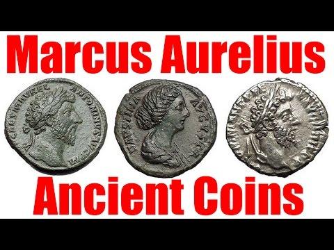 Marcus Aurelius father of Commodus Gladiator Movie Emperor Ancient Roman Coins Guide