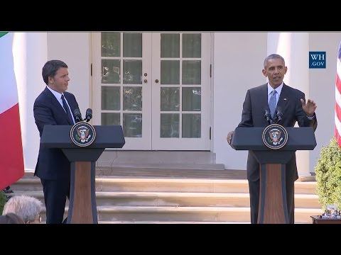 Obama And Italian Prime Minister-Full News Conference