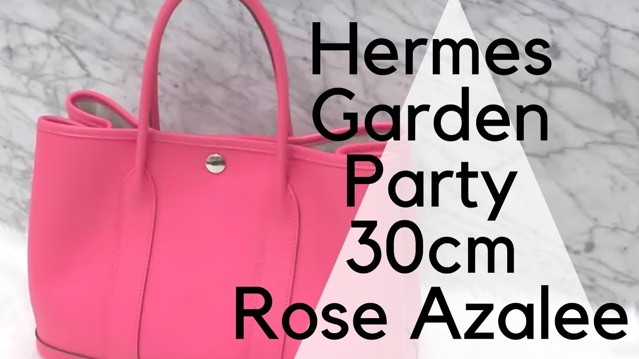 hermes garden party 30 rose azalee epsom youtube. Black Bedroom Furniture Sets. Home Design Ideas