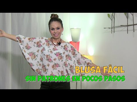 DIY Blusa Fácil sin Patrones en Pocos Pasos  Easy Blouse without Patterns in Few Steps- Omaira tv