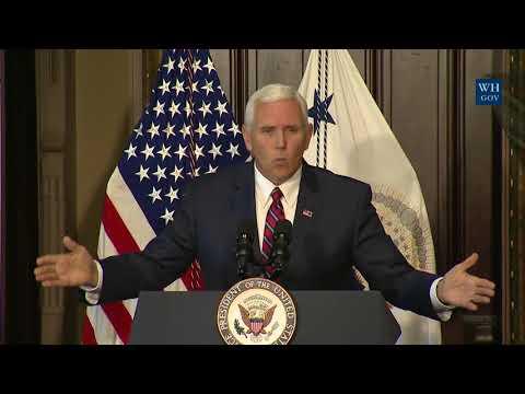 Vice President Pence and Veterans Affairs Secretary David Shulkin Host Honor Flight Veterans