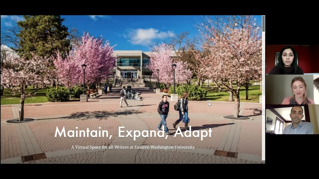 Maintain, Expand, Adapt: A Virtual Space for All Writers at Eastern Washington University