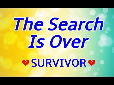 The Search Is Over - Survivor KARAOKE