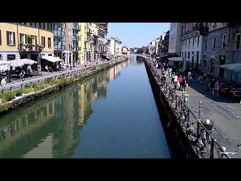 Milan navigli; canals, sun & wedding