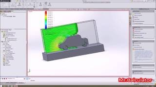 Aerodynamics Car Test By Use SolidWorks Simulation
