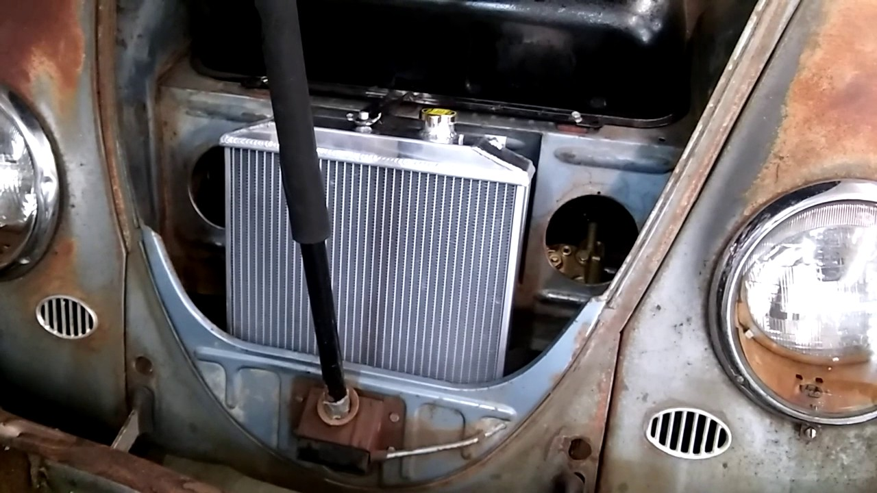 vw beetlesubaru swap coolant lines  radiator install youtube