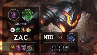 Zac Mid vs Sylas - KR Master Patch 11.12