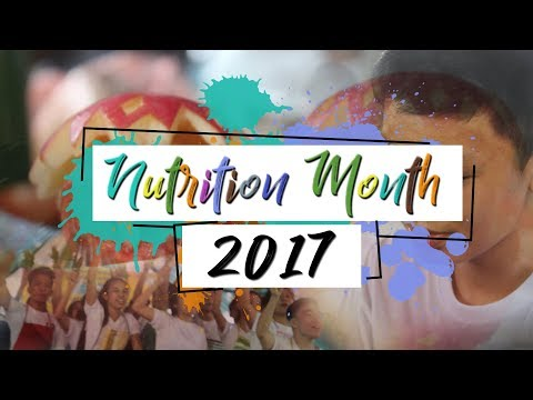 """Nutrition Month 2017 """"HEALTHY DIET, GAWING HABIT FOR LIFE!"""""""