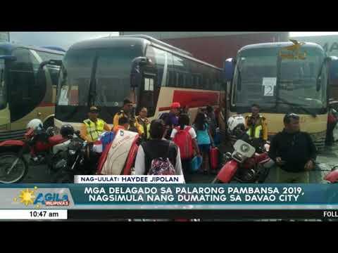 Mga delagado sa Palarong Pambansa 2019, nagsimula nang dumating sa Davao City