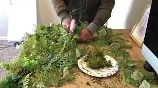 DIY BACKDROP FOREST GEEENERY