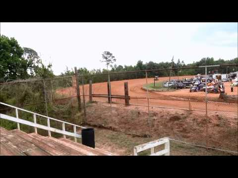 Sumter Speedway Sprint Car Practice session with Waves 1 and 2 5/17/14