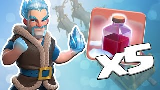 60 x New ICE WIZARDS + 5 x Santa Surprise Spells | Can we 3 Star with NEW TROOP? | Clash of Clans