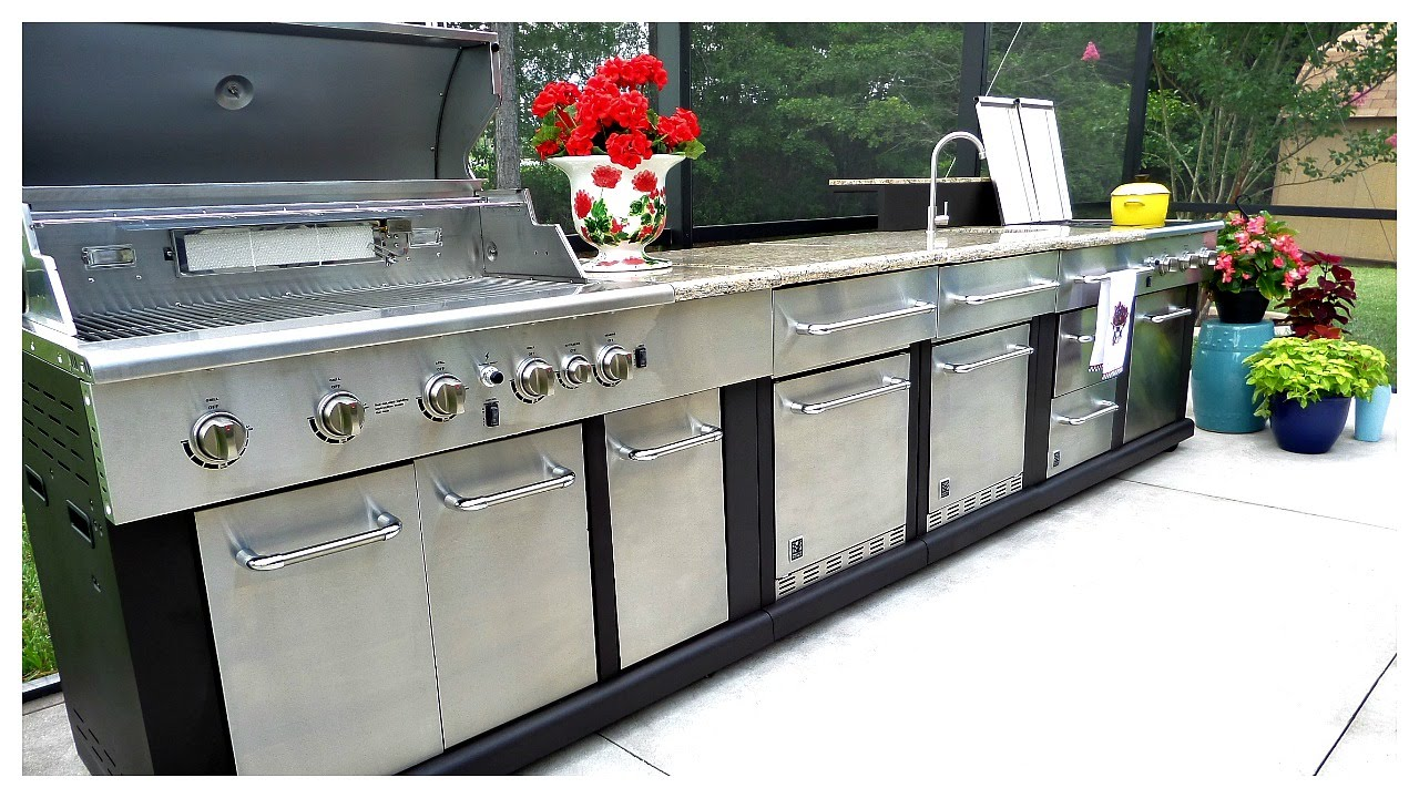 Master Forge Modular Outdoor Kitchen for Home
