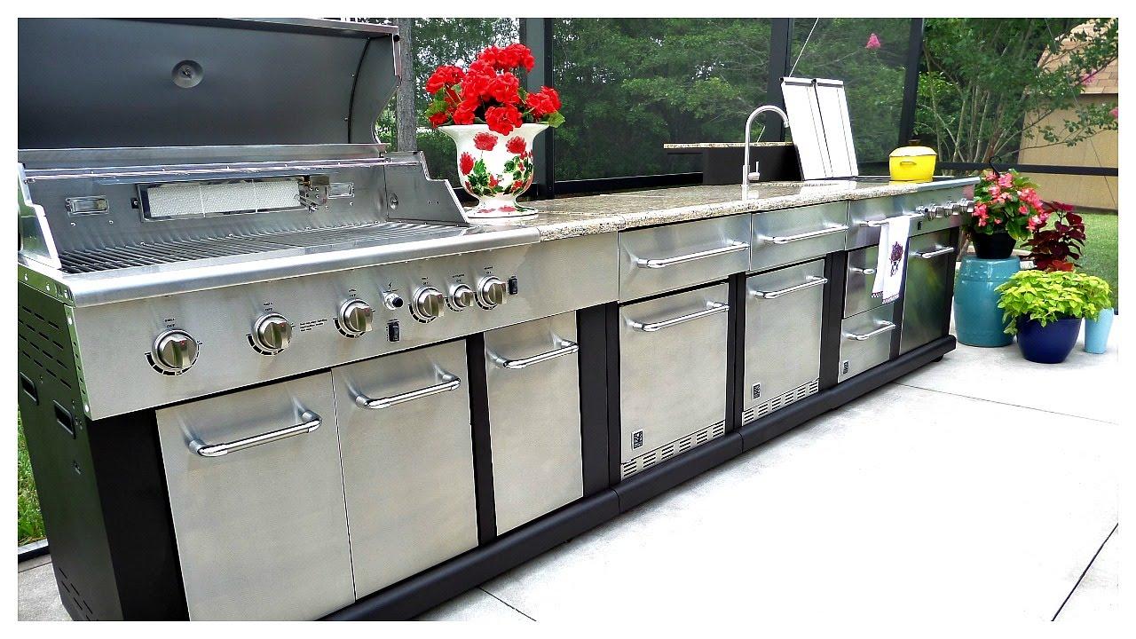 outdoor modular kitchen and organization🍔🌭🌽 - youtube