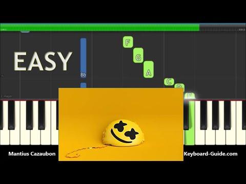 Marshmello Ft Bastille Happier Easy Piano Tutorial