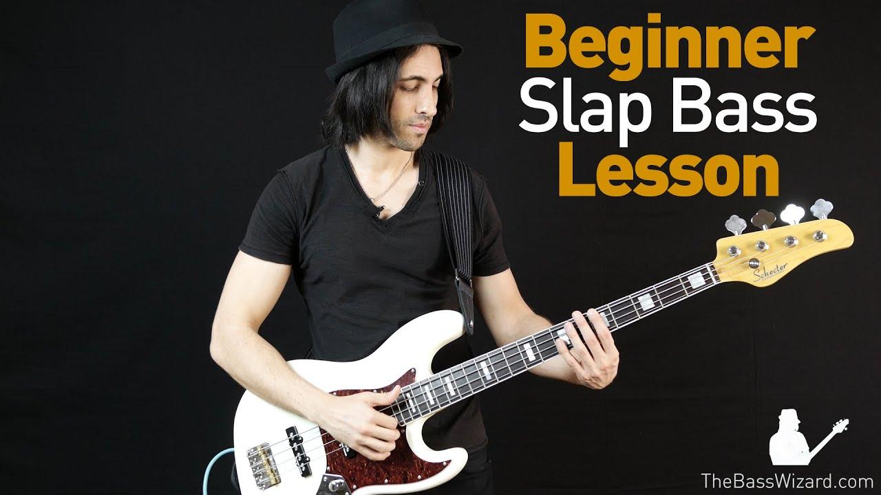 slap bass lesson beginner intermediate the b with loop
